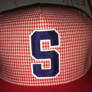 Supreme Accessories - Supreme S logo Houndstooth Snapback Hat vtg 2012 ! dd1d3775d